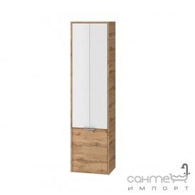 Пенал для ванной комнаты подвесной Ювента Sofia 170 c корзиной для белья дуб вотан