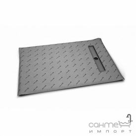 Прямоугольная душевая плита с линейным трапом вдоль короткой стороны Radaway 5DLB1009A с решёткой 5R065B Basic (плитка 8-12 мм)