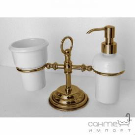 Дозатор і склянку на підставці Pacini & Saccardi Oggetti Appoggio 30121-D/B бронза