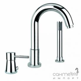 Смеситель для ванны на три отверстия Fiore Xenon 44 CR 5155 хром