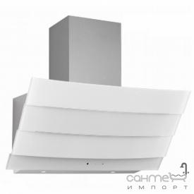 Пристінна кухонна витяжка Fabiano Costa 90 White Silence+ біле скло