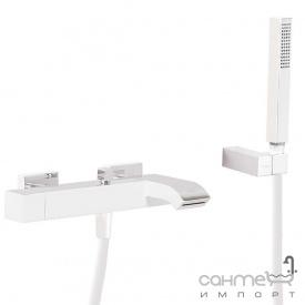 Смеситель для ванны с душевым гарнитуром Tres Cuadro Exclusive 007,170,02,03BM белый матовый