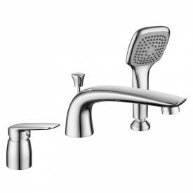 PRAHA new смеситель для ванны врезной на три отверстия хром 35 мм IMPRESE 85030 new