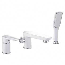 BRECLAV смеситель для ванны врезной на три отверстия хром белый IMPRESE 85245W