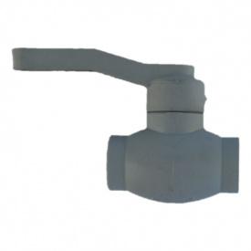 Кран кульовий PP-R 50 мм сірий