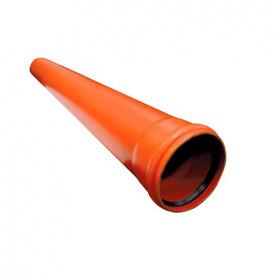 Каналізаційна труба ПВХ SN4 110x3,2 мм L=1 м