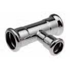 Трійник Steel редукційний 22x18x22 мм