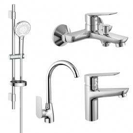 Набор смесителей для ванны и кухни Imprese Kit kit30094