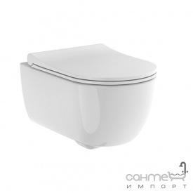 Унитаз подвесной безободковый с сидением soft-close Devit Art 2.0 3020140 белый глянцевый