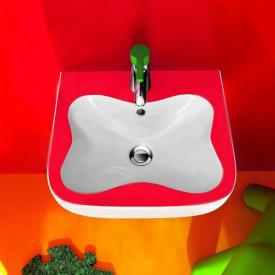 FLORA KIDS мини умывальник 45x41см с 1 м отверстием под смеситель цвет белый красный LAUFEN H8150310621041