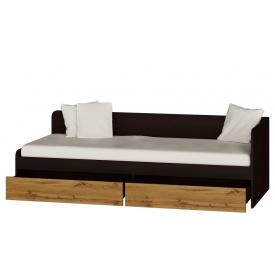 Односпальная кровать с ящиками Эверест Соната-800 венге + аппалачи