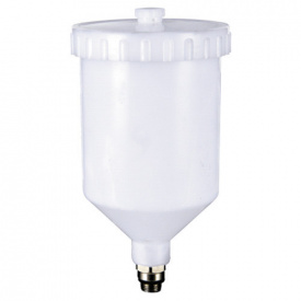 Бачок для краскопульта пластиковый (наружная резьба 3/8*1.337) 600 мл ITALCO PC-600A