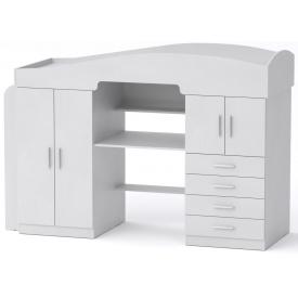 Кровать-чердак Универсал-2 Компанит Нимфея альба (белый)