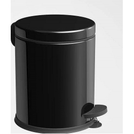 Ведро для мусора с педалью Mertinoks 5 л Черное (4501.2028S.101.05)