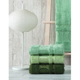 Набор махровых полотенец Zeron Бамбук 50х90 (3шт) Зеленый (1005872)