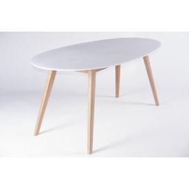 Обеденный стол Ай CRUZO 6 персон Тик белый (st0001)