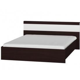 Кровать двуспальная Эверест Соната-1600 венге + белый