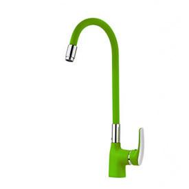 Смеситель для кухни с гибким изливом WELLI Зеленый (G2280)