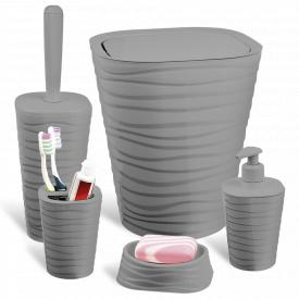 Набір для ванної кімнати PLANET WELLE 5 Предметів Сірий