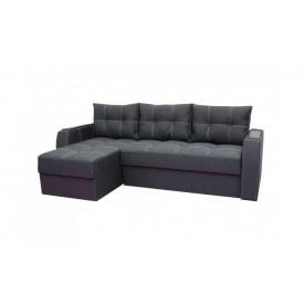 Угловой диван Garnitur.plus Лорд Темно-серый 225 см