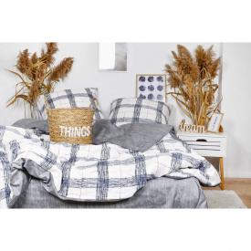 Постельное белье Viluta Ранфорс 21150 Семейный Серый с белым