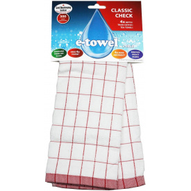 Полотенце E-Cloth Classic Check Tea Towel, red (201699)