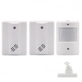 Беспроводной дверной звонок с датчиком движения и 2-мя приёмниками - оповещателями Leshp DD1408-2 (100722)