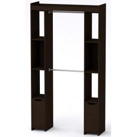 Шкаф для вещей 16 Компанит Венге темный (130х42х235 см)