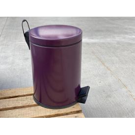 Ведро для мусора с педалью Mertinoks 12 л Фиолетовое (4501.2435S.101.12)