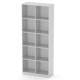 Стеллаж для книг Компанит КШ-2 АБС альба (белый)