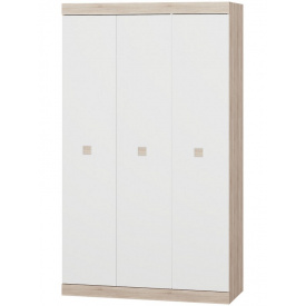 Шкаф 3-х дверный Эверест Соната-1200 сонома + белый