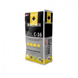Штукатурка цементно-известковая для газоблоков WALLMIX С-16 для машинного нанeсения 25кг