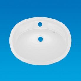 Умывальник накладной из литого мрамора Fancy Marble Bianca Bowl Белый глянцевый