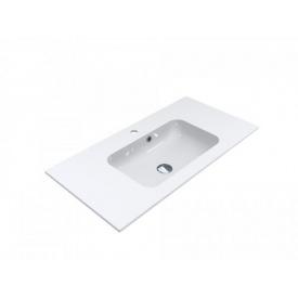Умывальник из литого мрамора врезной Miraggio Della 900 Белый глянцевый
