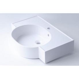 Умывальник врезной из литого мрамора Fancy Marble Comfort 612 Белый глянцевый