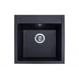 Кухонная мойка из гранита квадратная Miraggio Bodrum 510 Black