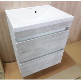 Тумба для ванной комнаты Fancy Marble Borneo 800 с умывальником Lucia 800