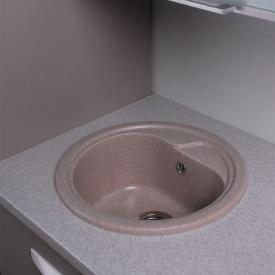 Кухонная мойка из гранита круглая Fancy Marble Nevada Песочная