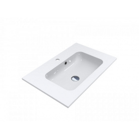 Умывальник из литого мрамора накладной Miraggio Della 700 Белый глянцевый