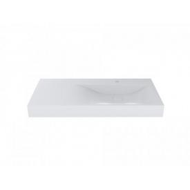 Умывальник накладной из литого мрамора Miraggio Viola 1000 Белый глянцевый