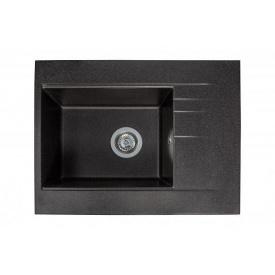Кухонная мойка из гранита прямоугольная Miraggio Bodrum 650 Black