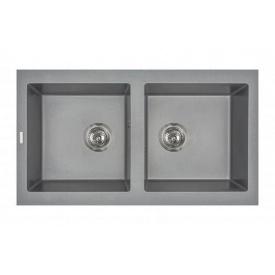 Кухонная мойка из гранита прямоугольная Miraggio Westeros Gray