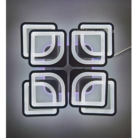 Светодиодная люстра с пультом Kube 8BK 192W RGB 3000-6000К 530*120мм 20-25кв/м