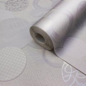 Вінілові сірі шпалери в спальню для залу LS Кола Декор ДХС-1471/3 1,06х10,05 м