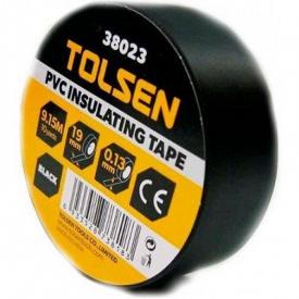 Изоляционная лента Tolsen 19ммх9,2м черная 0,13мм (38023)