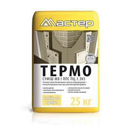 Клей универсальный для приклейки пенопласта и минеральных плит Термо Мастер 25 кг