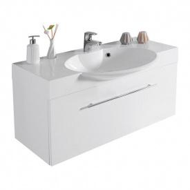 Тумба для ванной комнаты Fancy Marble Sumatra ШН-980 с раковиной Carme 980 Белая