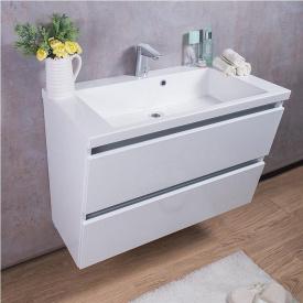 Тумба для ванной комнаты Fancy Marble Cyprus 85 с раковиной Peggy 850С Белая