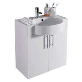 Тумба для ванной комнаты Fancy Marble Ibiza 60 ШН-612 с раковиной Comfort 612 Белая