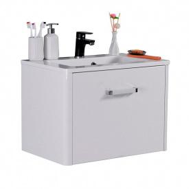 Тумба для ванной комнаты Fancy Marble Fiji 600 с раковиной Annabelle 60 Белая